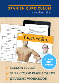 El Cuerpo - 1 Week of Teacher Lesson Plans with Flash Cards