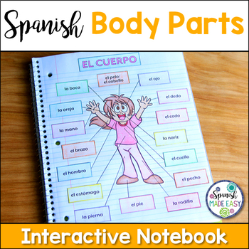El Cuerpo (Body Parts) Spanish Interactive Notebook Activity | TpT