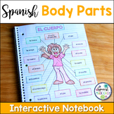 El Cuerpo (Body Parts) Spanish Interactive Notebook Activity