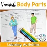El Cuerpo (Body Parts) Spanish Labeling Activities