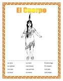 Thanksgiving -Body Parts in Spanish-El Cuerpo