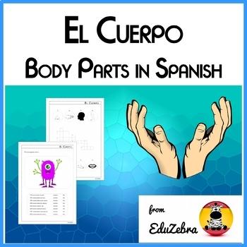 Body Parts in Spanish - El Cuerpo - Activity Pack