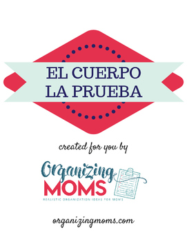El Cuerpo - La Prueba - Body Parts Quiz - Spanish
