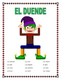 "El Cuerpo- Label ""El Duende""-Spanish Body Parts & Word Search & Puzzle-Christmas"