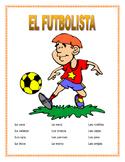 """El Cuerpo- Label """"El Futbolista""""- Spanish Body Parts & Word Search &  Puzzle"""