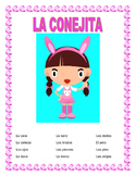 "El Cuerpo- Label ""La Conejita""- Spanish Body Parts & Word Search & Puzzle"