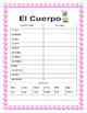"""El Cuerpo- Label """"La Conejita""""- Spanish Body Parts & Word Search & Puzzle"""