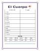"""El Cuerpo- Label """"La Patinadora""""- Spanish Body Parts,/Word Search/Double Puzzle"""