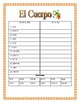 El Cuerpo- Label  Spanish Body Parts & Word Search &  Puzzle-Thanksgiving Themed