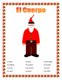 El Cuerpo- Label de Body Parts on Santa- Spanish