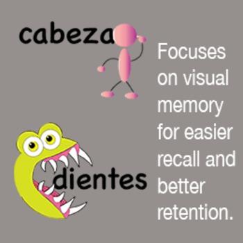 El Cuerpo Spanish Visual Mnemonics and activity pack