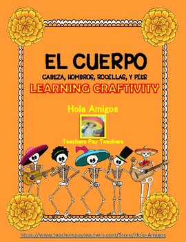 El Cuerpo - Spanish body parts calaca craftivity