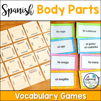 El Cuerpo (The Body) Matching Squares and Flash Cards