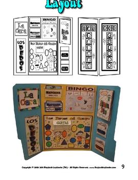 El Cuerpo (The Body) Spanish Lapbook File Folder Activities