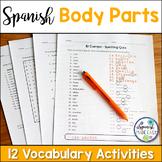 El Cuerpo (Body Parts) Spanish Vocabulary Activities