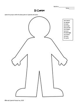 El Cuerpo - The Body worksheet