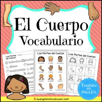 El Cuerpo Vocabulario {Spanish Body Parts Vocabulary}