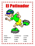 "El Cuerpo y La Ropa-Label Body Parts & Clothing in Spanish-""El Patinador""-Summer"