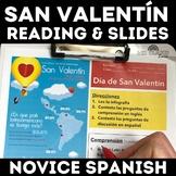 San Valentín Infografía - Valentine's Day in novice Spanis