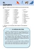 El Deporte / Sports in Spanish