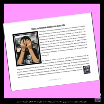 El Dia Terrible de Maria A Bad day Story -Routines, reflexives, and past tense