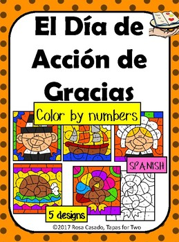 El Dia de Accion de Gracias Color by Number