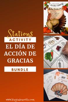 El Día de Acción de Gracias Thanksgiving Stations Bundle