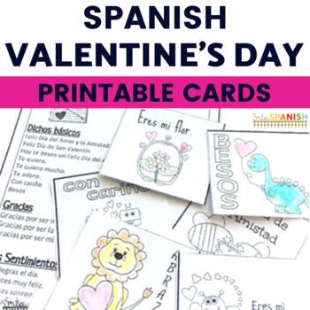 Valentine's Day Feliz Día de Amor y Amistad Printable Cards
