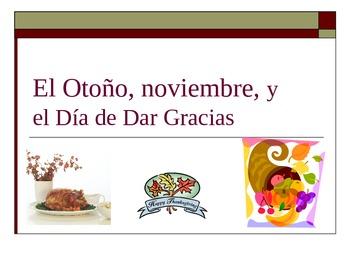 El Dia de Dar Gracias Spanish Thanksgiving Verb Game
