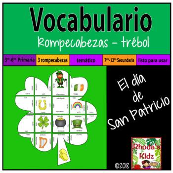 El Día de San Patricio -Rompecabezas-Vocabulario