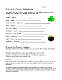 El Día de San Patricio - Spanish Activities for Saint Patrick's Day