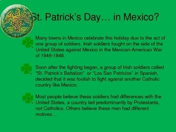 El Dia de San Patricio en Mexico. St Patrick's Day in Mexico.