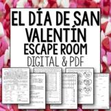 El Dia de San Valentin Break Out Room Spanish Escape for Valentine's Day