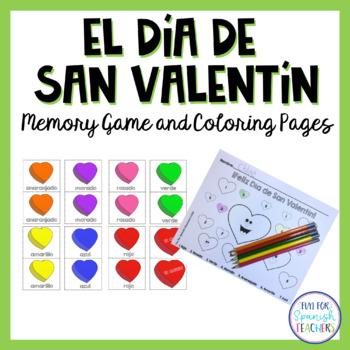 El Día de San Valentín - Memory Game & Coloring Page {Freebie}