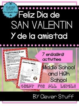 Spanish Valentine's Day Activities. Feliz San Valentín.