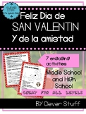 Spanish Valentine's Day Activities. Feliz San Valentín.