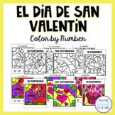 El Día de San Valentín / Valentine's Day Color by Number