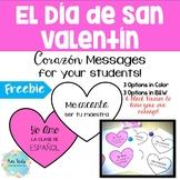 El Día de San Valentín (Valentine's Day) Heart Messages fo
