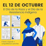 El Día de la Raza reading and activities in Spanish
