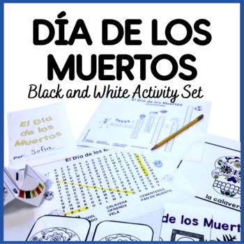 El Día de los Muertos Activity Set {Black & White}