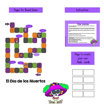 El Día de los Muertos / Day of the Dead Board Game