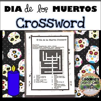 El Día de los Muertos (Day of Dead) Crossword and Answer Key