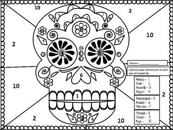 El Dia De Los Muertos Day Of Dead Los Colores Sugar Skull