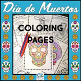 El Día de los Muertos Day of the Dead Coloring Pages