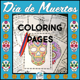 El Día de los Muertos Day of the Dead Coloring Pages
