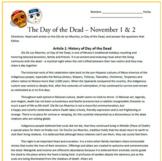El Dia de los Muertos: Day of the Dead Reading Activities