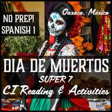 El Día de los Muertos Day of the Dead Super Seven Verbs Cultural Reading Mexico
