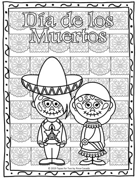El Dia de los Muertos Day of the Dead Fun packet
