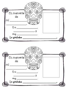 El Día de los Muertos Memory Cards