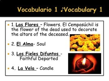 El Día de los Muertos PowerPoint In Spanish 48 Slides Day of the Dead Lesson
